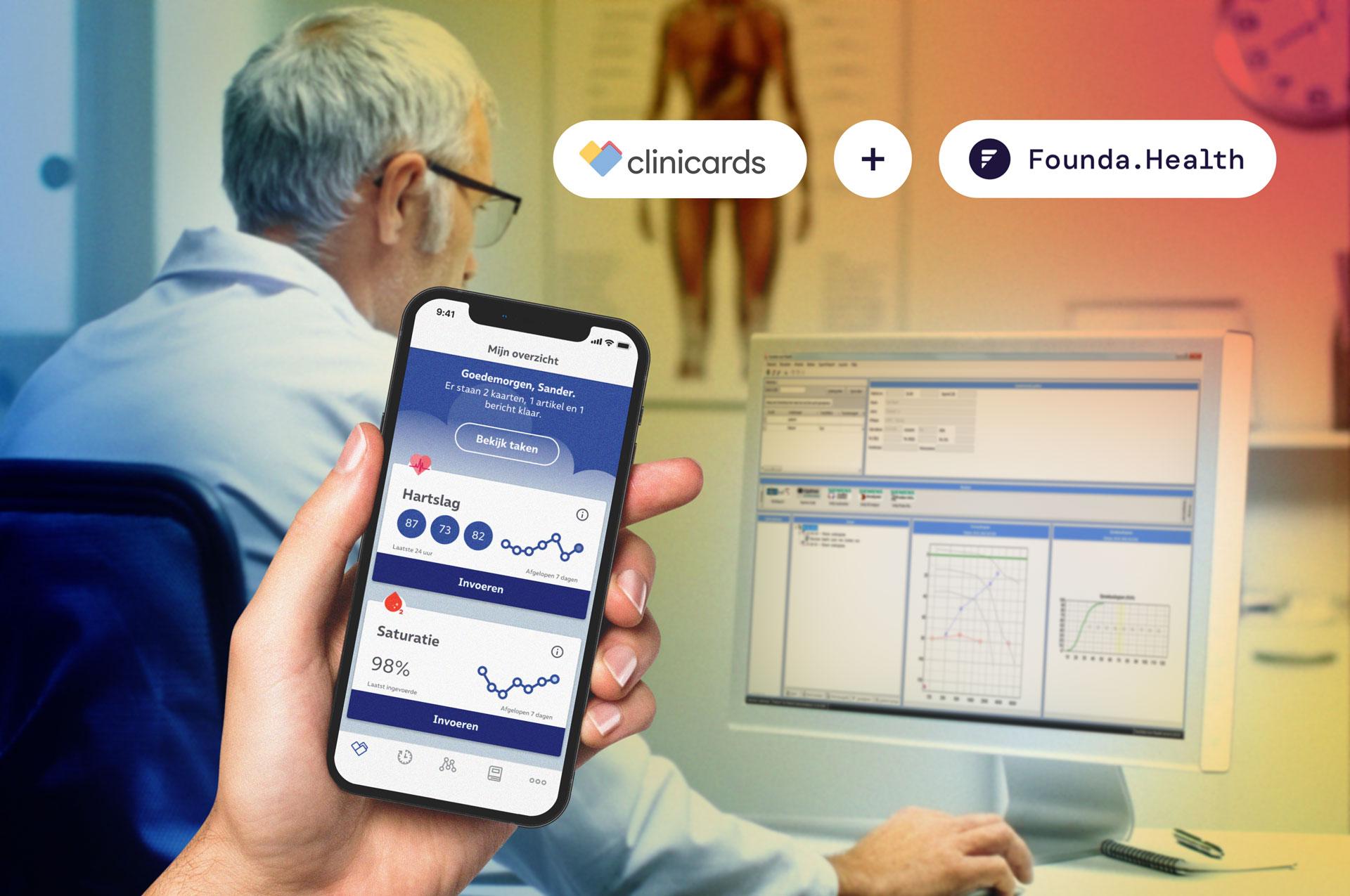 Clinicards Is Nu Gekoppeld Met De Founda Health API